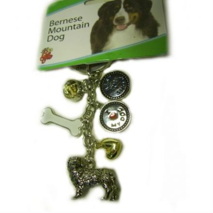 Bernese Mountain Dog Key Chain, Little Gifts